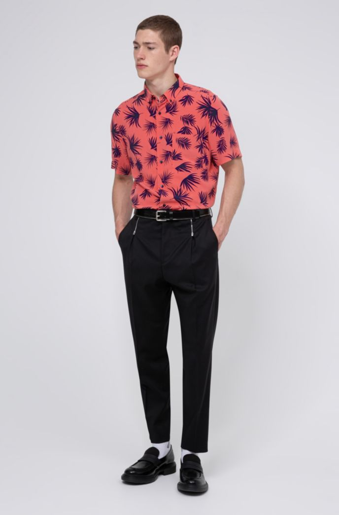 Relaxed-fit buttondownoverhemd met all-over-print