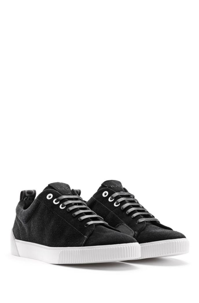 Sneakers aus Nappaleder mit Schnürung und Kontrast-Details