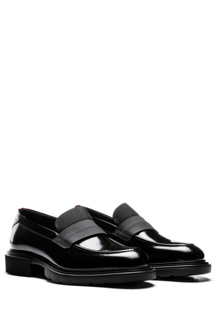 Smooth-leather loafers with chunky sole