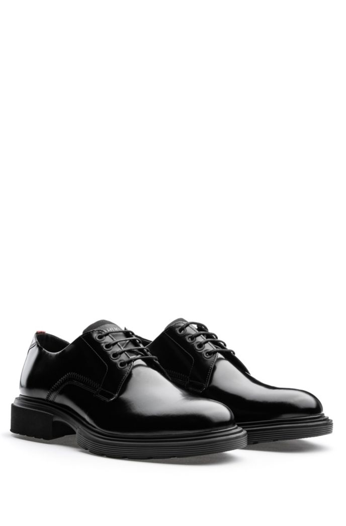 Polished-leather Derby shoes with EVA lug sole