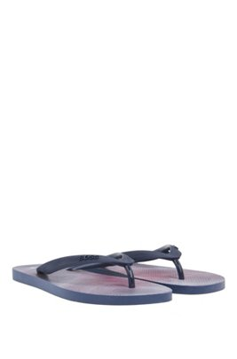 Flip-flops with logo-print straps, Light Purple