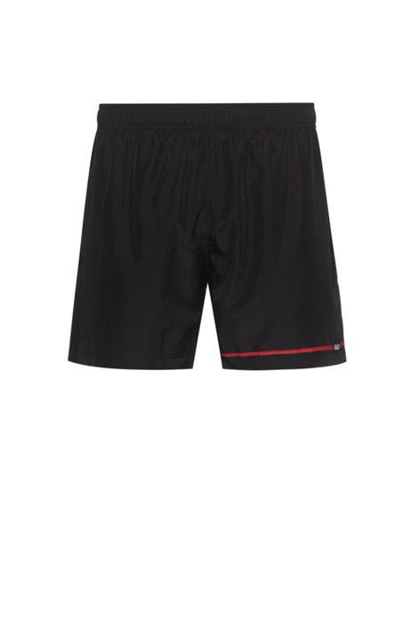 Quick-drying swim shorts with new-season logo, Black