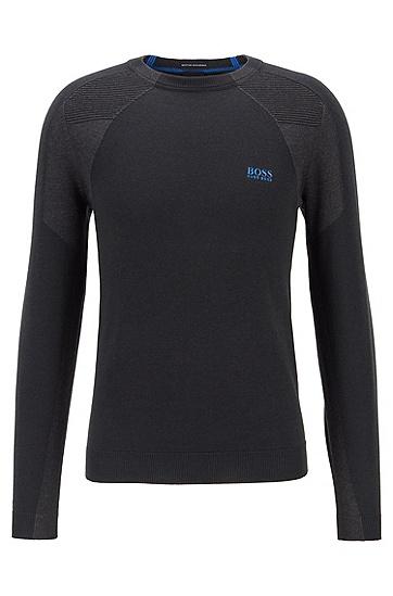 标准款罗纹袖口休闲长袖,  001_黑色