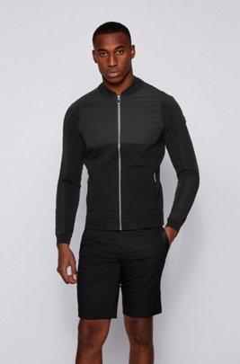 Vest met ritssluiting en logo aan de achterkant, Zwart