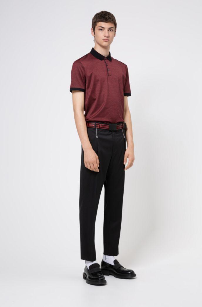 Poloshirt aus merzerisierter Baumwolle mit kontrastfarbenen Paspeln