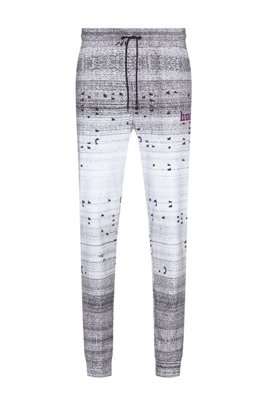 Unisex jogging trousers with all-over print, ホワイト