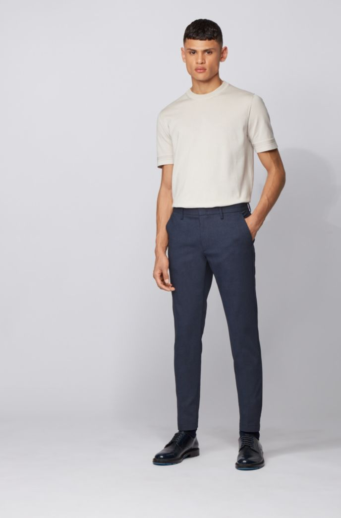 Slim-fit chinos in a printed stretch-cotton blend
