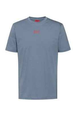 Unisex cotton T-shirt with new-season logo print, Dark Grey