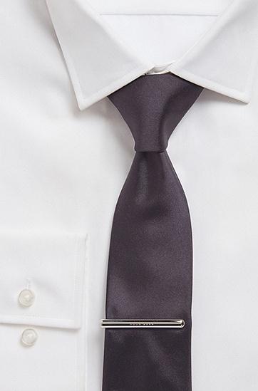 男士徽标细节闪亮领带夹,  040_银灰色