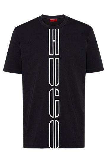 采用环保 Recot²® 棉制成的徽标印花男女同款T 恤,  001_黑色