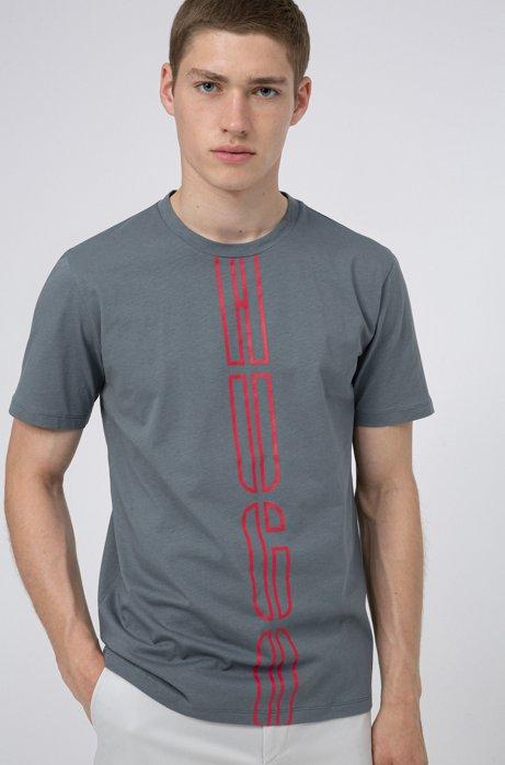 T-shirt unisex in cotone ecologico Recot²® con logo stampato, Grigio scuro