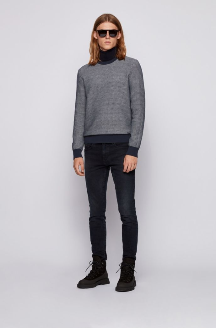 Regular-fit sweater in a cotton-kapok blend