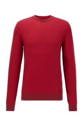 Regular-fit trui in een mix van katoen en kapok, Rood