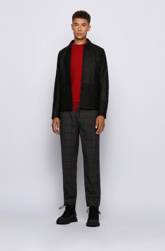 Regular-fit trui in een mix van katoen en kapok