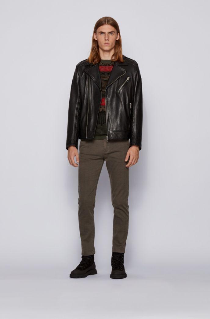 Pullover mit Rundhalsausschnitt und mehrfarbigem Jacquard-Dessin