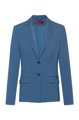 Regular-fit jacket in pique fabric, Dark Blue