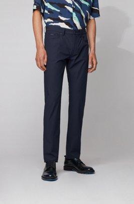 Slim-fit jeans in technical-stretch denim, Dark Blue