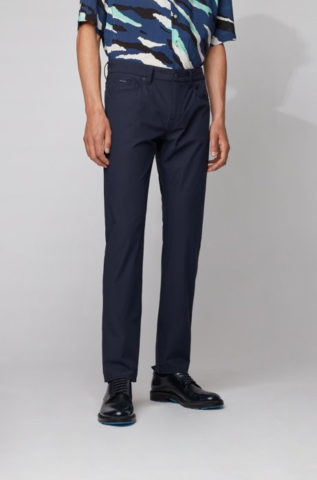 Slim-fit jeans in technical-stretch denim, Dark Blue