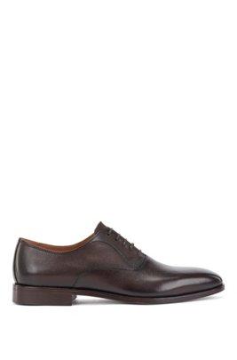 In Portugal gefertigte Oxford-Schuhe aus Leder, Dunkelbraun