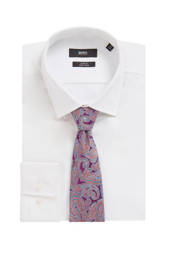 Paisley tie in silk jacquard