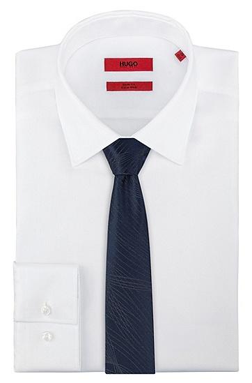 尖头图形图案领带,  405_暗蓝色