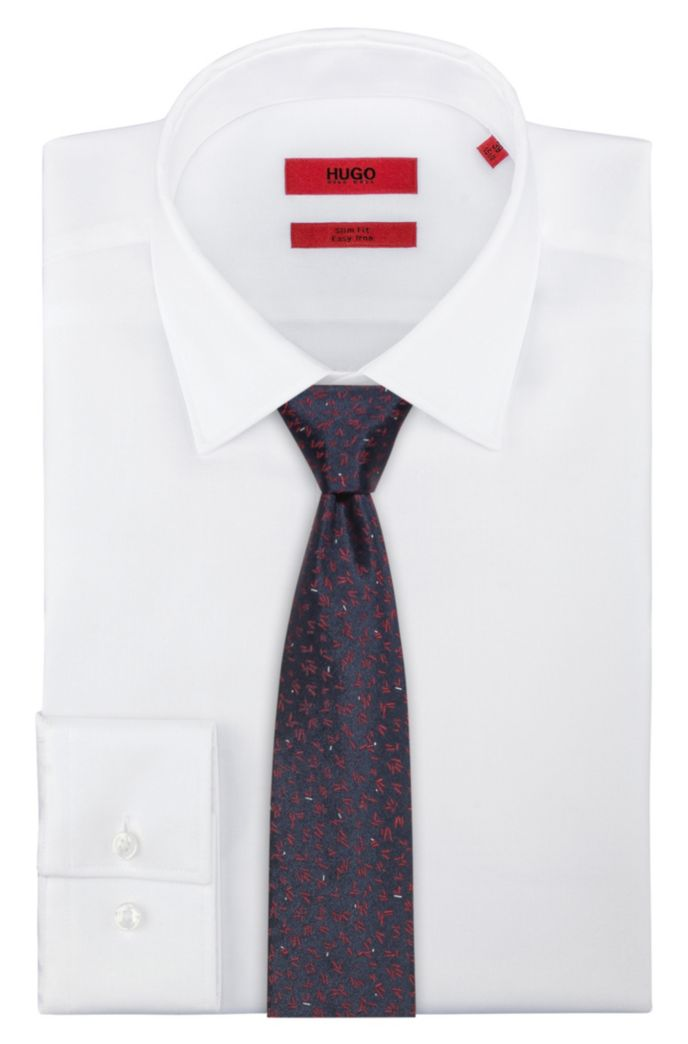 Micro-patterned tie in silk jacquard