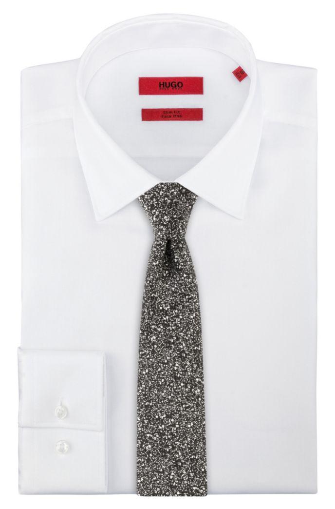 Zijden stropdas in jacquard met abstract dessin