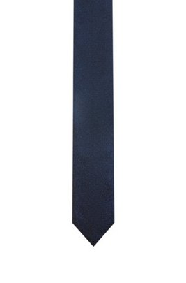 Silk-jacquard tie with all-over logo motif, Dark Blue