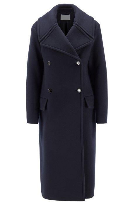 Relaxed-Fit Mantel aus Schurwolle mit Kaschmir, Blau