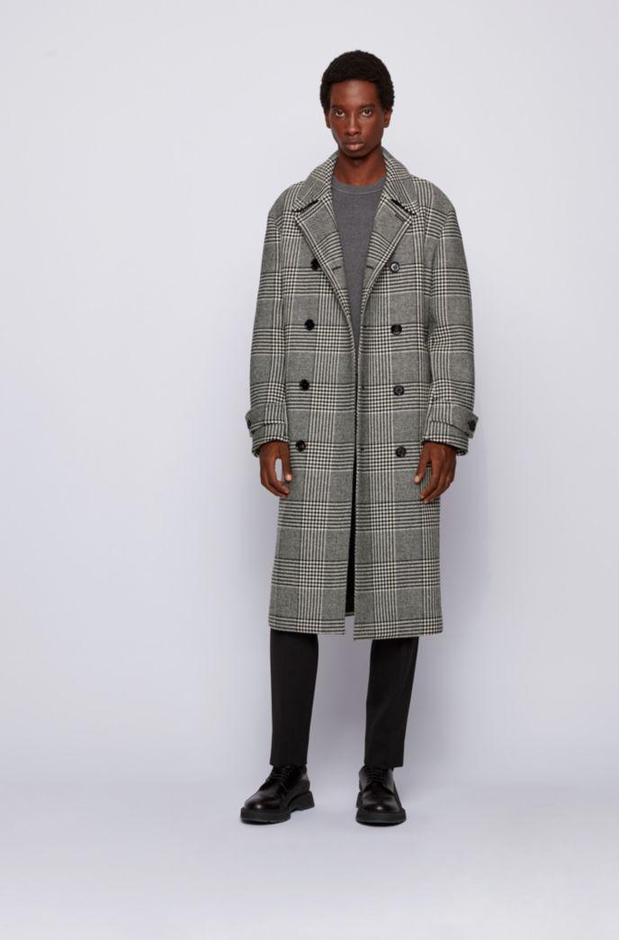Pullover aus Baumwolle mit Schurwolle und Streifen-Details