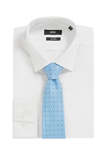 意大利制造真丝提花微型图案领带,  449_水蓝色
