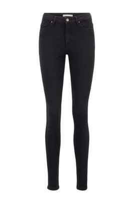 Skinny-fit jeans in Stay Black stretch denim, Black