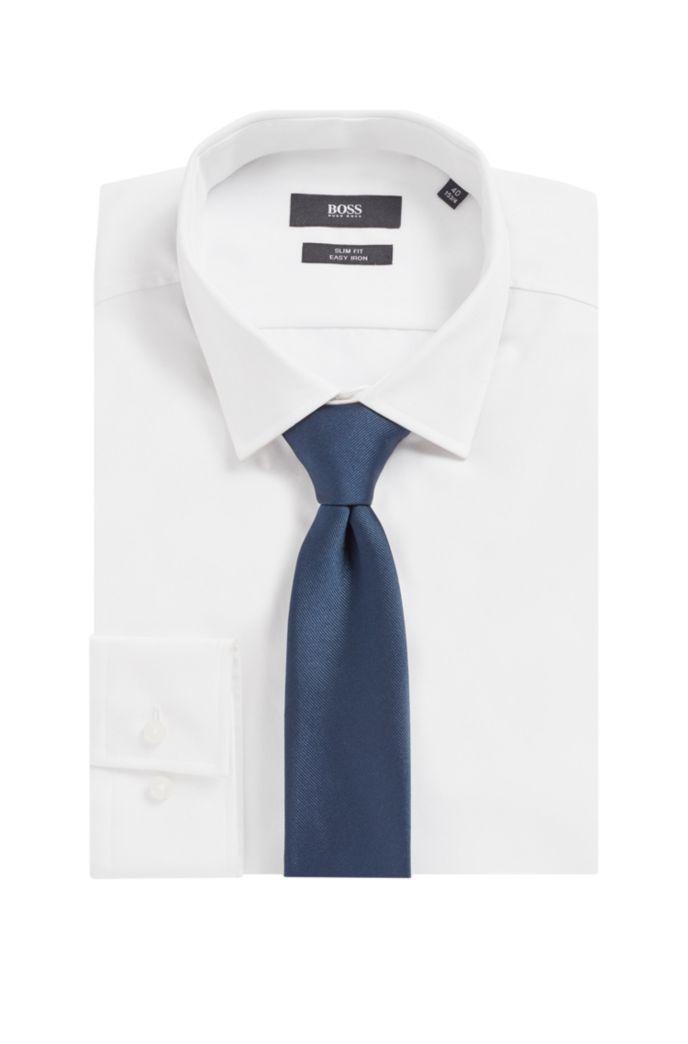 Cravate en jacquard de soie avec passant à l'arrière