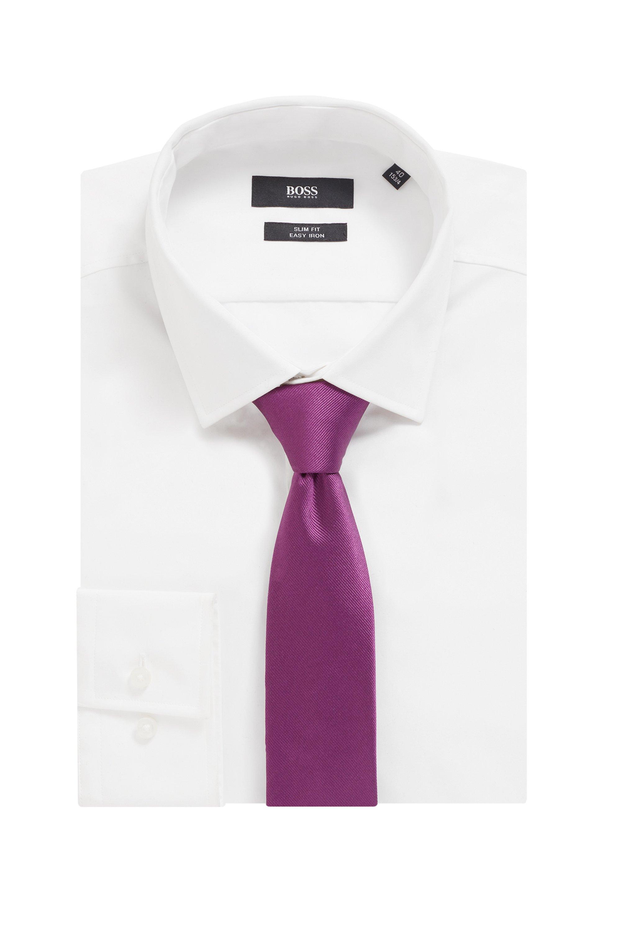 Cravatta in seta jacquard con passante posteriore in fettuccia