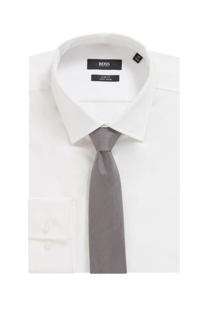 Handgefertigte Krawatte aus strukturiertem Seiden-Jacquard