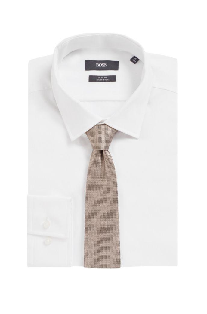Handgemaakte stropdas in een jacquard van zijde