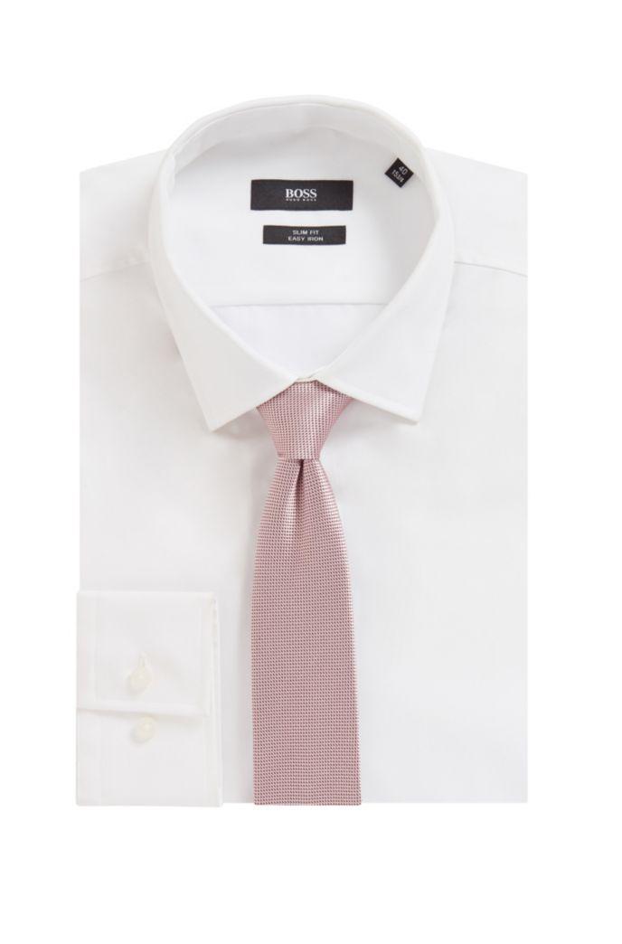 Cravatta realizzata a mano in seta jacquard