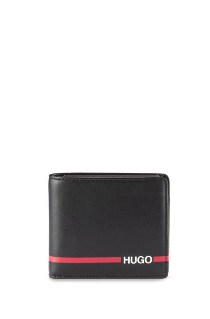 Coffret cadeau composé d'un porte-clés et d'un portefeuille à rayure logo
