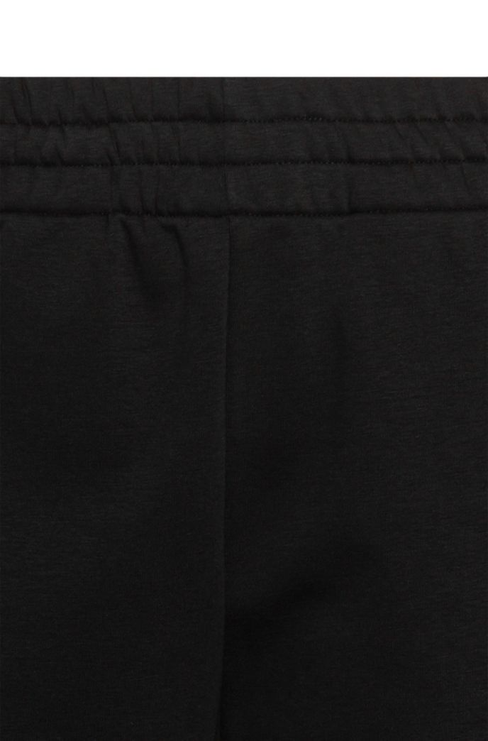 Cotton-blend relaxed-fit trousers with logo inserts