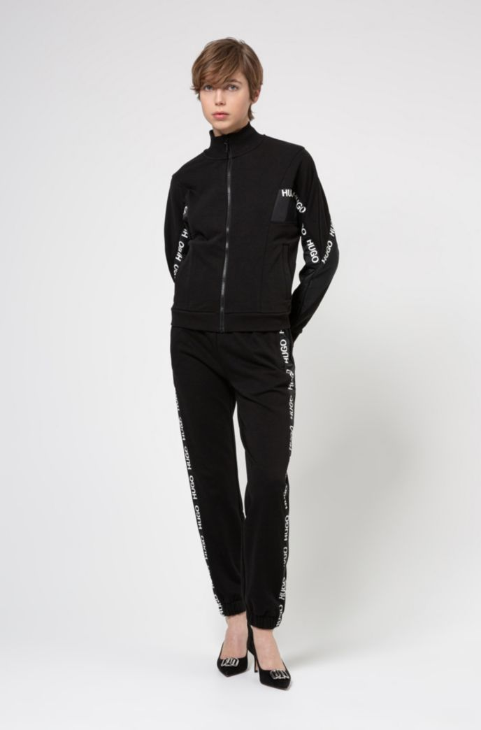 Relaxed-fit cotton-blend jacket with logo inserts