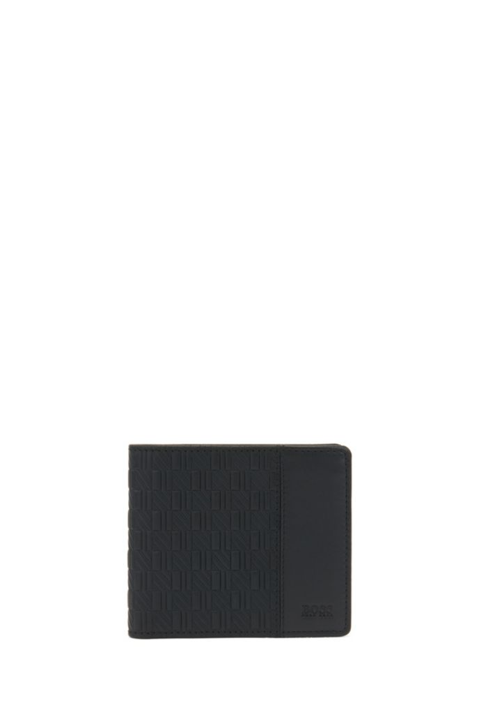 Seasonal-embossed leather wallet and card holder gift set