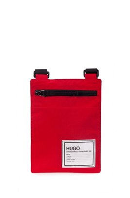 Zip-close reporter bag in recycled materials, Red