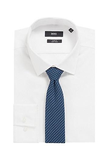 意大利制造再生面料图案装饰领带,  494_淡蓝色