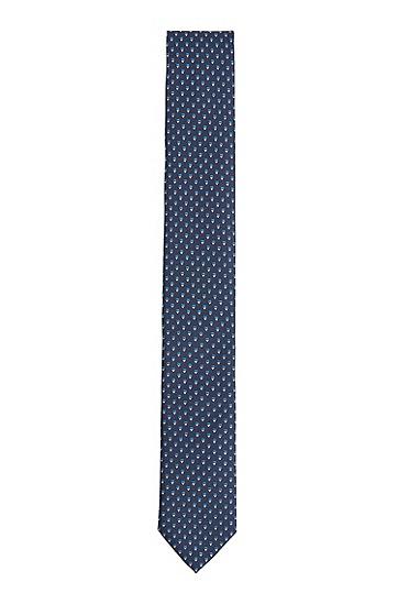 再生面料提花图案领带,  496_淡蓝色