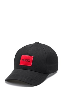 Panelled cap in cotton twil with logol, Black
