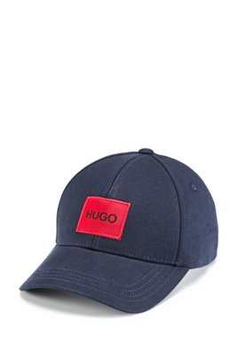 Panelled cap in cotton twil with logol, Dark Blue