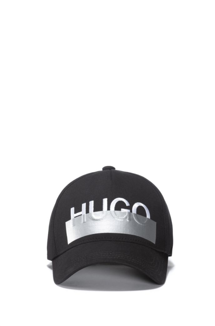 Cotton-twill cap with seasonal logo embroidery