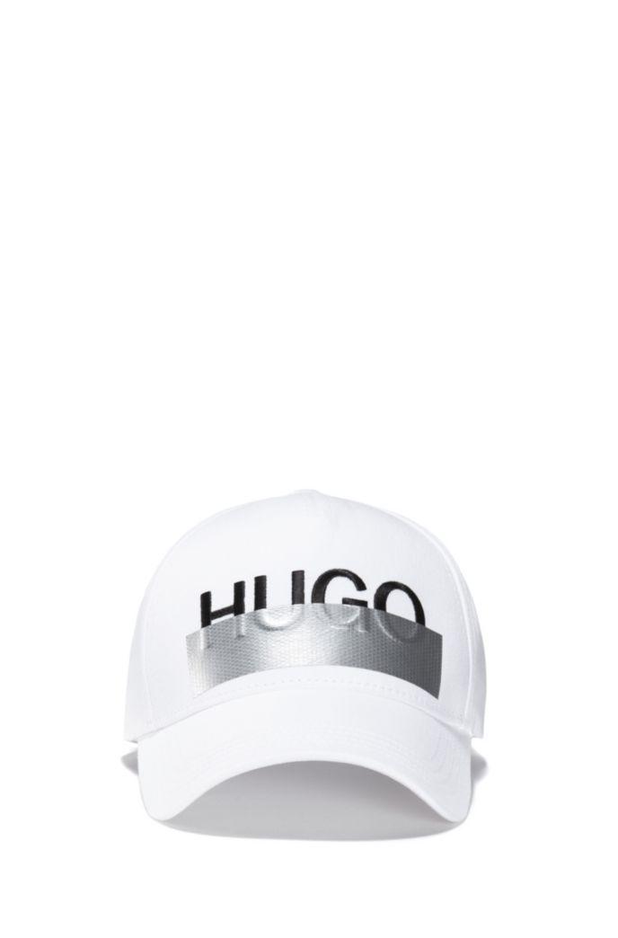 Cappellino in twill di cotone con logo ricamato della stagione