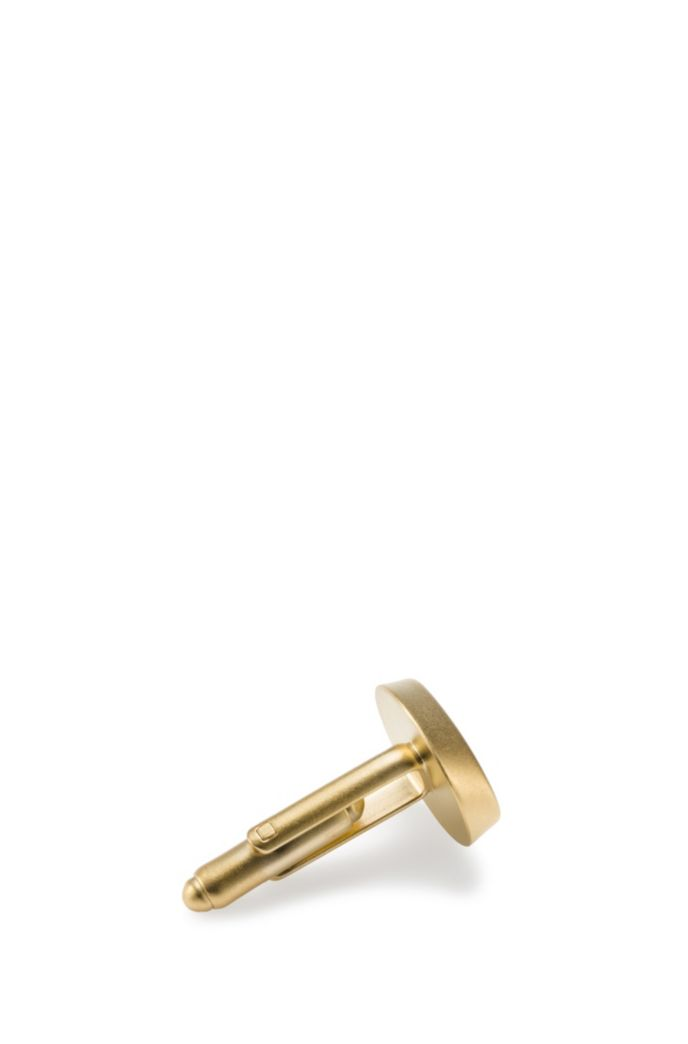 Logo cufflinks in highly polished brass