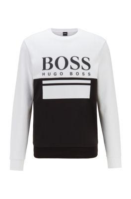 Pullover mit Logo-Print, Schwarz